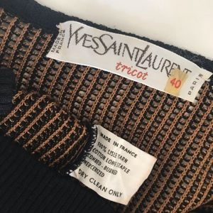 0a65dd7b947 Yves Saint Laurent Sweaters - YVES SAINT LAURENT Tricot Knit Sweater
